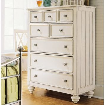 American Drew Camden-Light Drawer Chest in White Painted