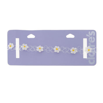 Tattoo Choker Necklace with Daisies