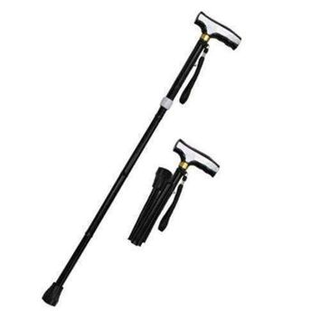 SALE 36 in Black Folding / Adjustable Alumminum Walking Cane WS2110BK