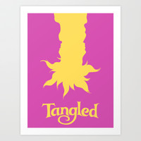 Tangled Art Print by Citron Vert