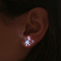 LED Crystal Earring Glowing Light Up Earrings Stud