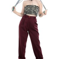 Vintage 80's Wine and Dine Trousers - XS