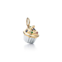Tiffany & Co. -  Cupcake charm. Multi-colored gemstones, 18k gold.