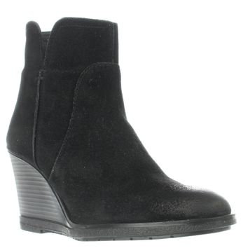 Kenneth Cole REACTION Dot-ation Wedge Ankle Boots, Black, 8.5 US / 39.5 EU