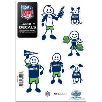 Seattle Seahawks Family Decal Set Small 2FFSD155
