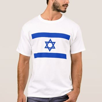 T Shirt with Flag of Israel