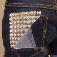 www.shop-savage.com ; Studded Denim Shorts