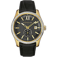 Wittnauer Men's Leather Multifunction Watch