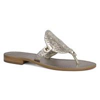 Georgica Sandal in Platinum by Jack Rogers