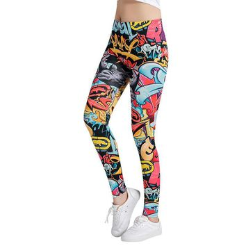 Graffiti Art - Colorful - Women's Leggings