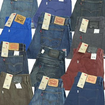 New Levi's Men's Jeans 514 Slim Fit Straight Leg Corduroy 30 32 33 34 36 38 40