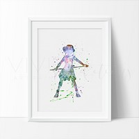 Princess Mononoke Watercolor Art Print
