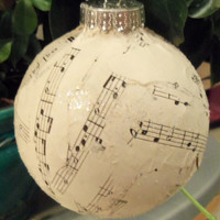 Christmas Ornament Balls, Christmas, Holidays, Gift for Music Lover, Glitter Musical ball