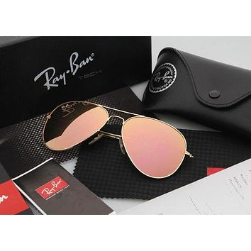 PEAP2Q ray ban aviator sunglasses yellow flash gold frame rb3025 112 68f 58mm