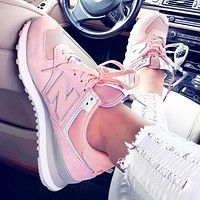 New Balance Casual running shoes Sports shoes Z-Letters Classic Sneakers Pink