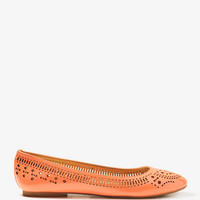 Perforated Patent Ballet Flats