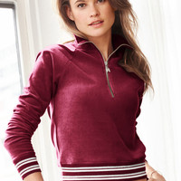 Velour Half-zip Pullover - Victoria's Secret