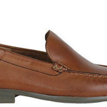 Hush Puppies Mens Shoes Circuit Slip On Tan Leather Medium (D, M)