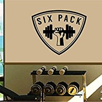 Dabbledown Six Pack Abs Gym Logo Version 102 Window Lettering Decal Sticker Decals Stickers