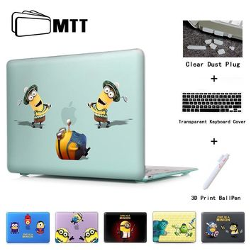 Minion Play Golf Pattern Print Laptop Cover For Macbook Air 11 Pro 13 15 case Retina For MacBook Air 13 Case Matte Touch bar