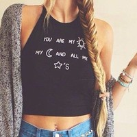 """""""You are my sun"""" Crop Top (All Sizes)"""