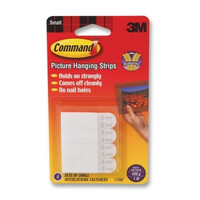 "3m commercial office supply div. hanging strips,w/command adhes.,holds 1 lb.,5/8""x1-3/8"",4/pk"