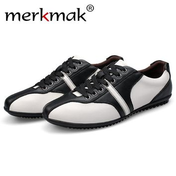 Mermak 2017 Shoes Men Fashion Brand Newly Spring Autumn Comfortable Men Shoes Breathable Office Flats Up Footwear Zapato Hombres