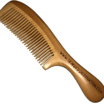 BD Long Handle Wooden Beard/Hair Comb