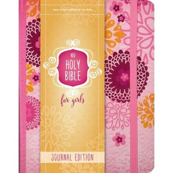 NIV Holy Bible For Girls, Journal Edition, Hardcover, Pink, Elastic Closure