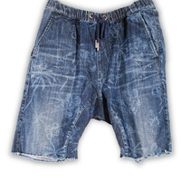 1FS-159 Ashley Blue Jogger Denim Short