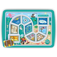 DINNER WINNER Pirate Kids Plate by FRED & Friends