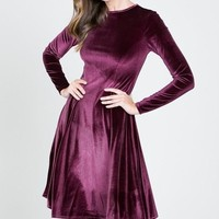 Lap of Luxury Velvet Dress - Mulberry FINAL SALE!