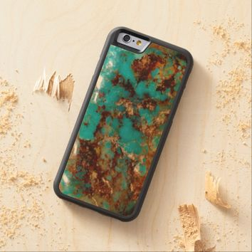Natural Turquoise V5 Carved® Maple iPhone 6 Bumper Case