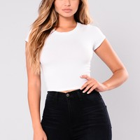 Jaclyn Crop Top - White