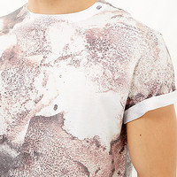 White washed rust print t-shirt - print t-shirts - t-shirts / tanks - men