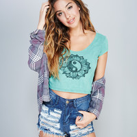 Yin Yang Crop Tee | Wet Seal