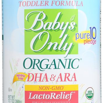 BABYS ONLY ORGANIC: Toddler Formula LactoRelief Iron Fortified, 12.7 Oz