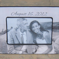 Personalized Wedding Picture Frame, Unique Custom Engagement Gift, Anniversary Picture Frame, Shower Gift