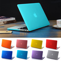 Matte (Frosted) Transparent Plastic Case For Apple Macbook Air Pro Retina 11 12 13 15
