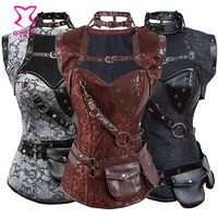 Corzzet Steampunk Clothing Women Steel Boned Corsets and Bustier Plus Size Corset 6XL Gothic Corselet Overbust Burlesque Costume