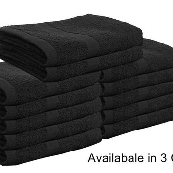 Cotton Bleach Proof Salon Hand Towels (16x27 inches) Bleach Resistant Towels