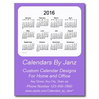 2016 Amethyst Business Calendar by Janz Postcard