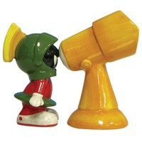 Marvin the Martian and Telescope Ceramic Salt & Pepper Shakers