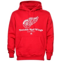 Majestic Detroit Red Wings Red Critical Victory VIII Fleece Hoodie