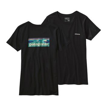 Patagonia Women's Board Short Label Cotton Crew T-Shirt