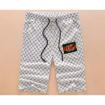 GUCCI summer men's sports shorts loose summer casual five pants F-A00FS-GJ white