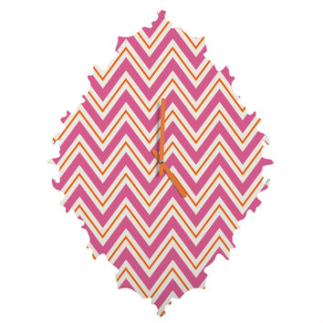 Caroline Okun Berry Pop Chevron Baroque Clock