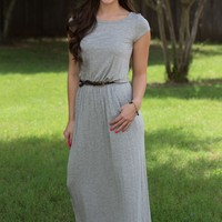 The Boyfriend Maxi Dress - Grey | Dresses | Kiki LaRue