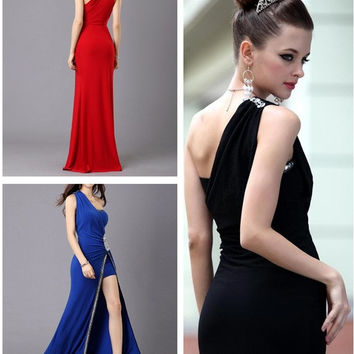 Newest Women's Evening Party Dress Ball Gowns Wedding Bridesmaids' &Formal Elegant Dresses One shoulder prom dresses = 1705088644