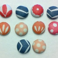 Decorative Morita Fabric Thumbtacks/Push Pins Set of 10
